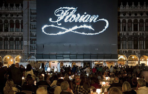 Caffè Florian hosted over 800 guests to celebrate its 290th birthday in the unique scenery of Piazza San Marco in Venice.