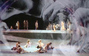 Tannhäuser by Richard Wagner, a production by Filippo Crivelli at the Theater of the Opera of Rome, October/November 2009.